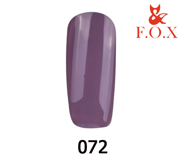 Гель-лак FOX Pigment № 072 (лилово-серый), 6 мл