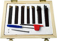 Набор токарных резцов 8х8 по металлу со сменными пластинами 7шт.(арт.23362С8)