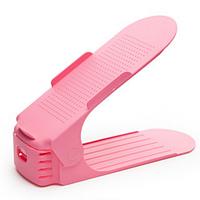 Подставка для обуви 3 уровня регулировки высоты наклона SHOES HOLDER розовый