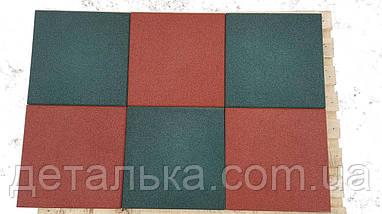 Тротуарная резиновая плитка 500*500 мм толщиной 30 мм., фото 3