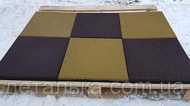 Тротуарная резиновая плитка 500*500 мм толщиной 30 мм., фото 2