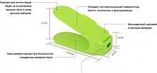 Подставка для обуви 3 уровня регулировки высоты наклона SHOES HOLDER зеленый
