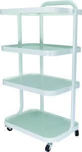 Косметический столик на 4 полки со стеклом ХИТ2019