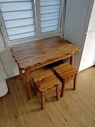 Комплект стола со стульями из массива дуба от производителя. 110х70