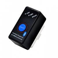 Универсальный сканер адаптер для диагностики авто mini Bluetooth с кнопкой ON/OFF блютуз OBD2 ELM327 V1.5/2.1