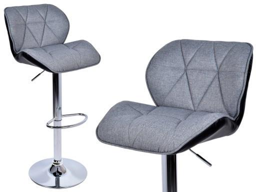 Кресло кухонное- барне Росси Цвет:  серо-черный