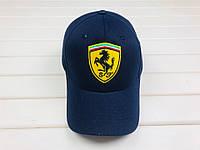 Мужская кепка Ferrari, кепка Феррари, спортивная, бейсболка, каттон, синяя