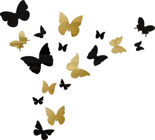 Зеркало Золотые бабочки настенные