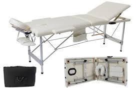 Стол массажный кушетка алю. 3-сигм.до 250 кг + сумка