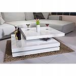 Столик кофейный 60x60 см вращающейся белый, фото 4