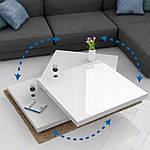 Столик кофейный 60x60 см вращающейся белый, фото 5