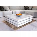 Столик кофейный 60x60 см вращающейся белый, фото 7