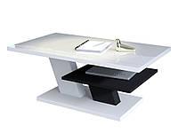 Журнальный столик CLIFF Белый глянец / черный
