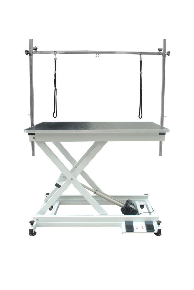 Современный тримерский стол Blovi Moon с электроподъемником, столешница 110x60см