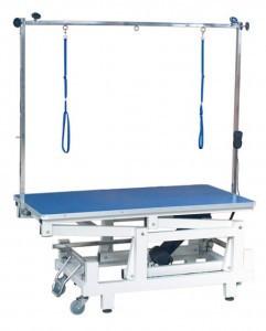 Профессиональный, большой стол Blovi Magnum 120x65см с электроподъемником, синий верх