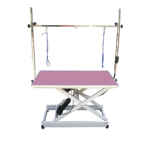Стол Blovi Trenc с электрическим лифтом, столешница 110см x 60см, розовый