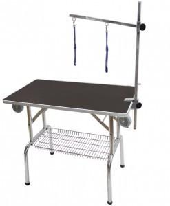 Стол для груминга Blindi с колесами корзиной 95x55см
