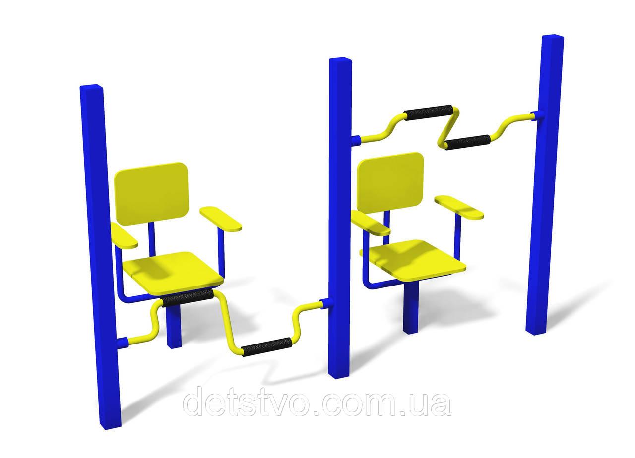 """Тренажер с креслами для развития мышц рук и ног """"Круг"""""""