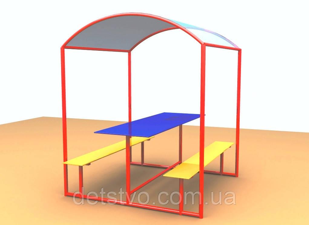 Стол-беседка со скамейками