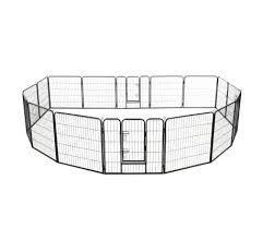 Огорожа для собак металлическая модулированная 16 панелей 60 х 80 см vidaXL