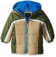 Куртка для мальчика iXtreme бежевая с зеленым