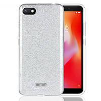 Чехол Shining Glitter для Xiaomi Redmi 6a с блестками серебристый