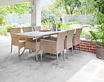 Набори садовой мебели SANDVIG 200см + 6 AIDT,цвет-натура, фото 3