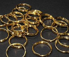 (20 грамм) Колечки двойные заводные D-14мм Цена за 20 грамм (примерно 35 шт) Цвет - ЗОЛОТО