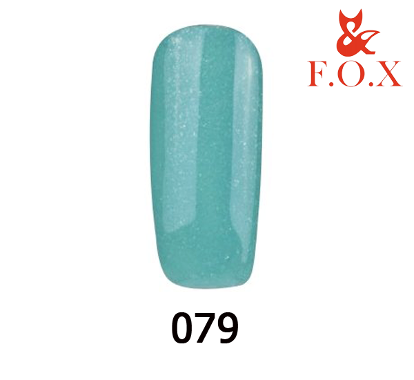 Гель-лак FOX Pigment № 079 (приглушенный бирюзовый с микроблеском), 6 мл