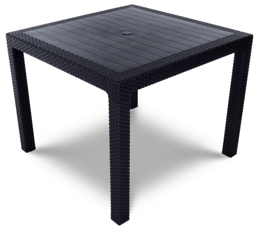 Садовый стол CURVER  MELODY QUARTET 95x95 коричневый