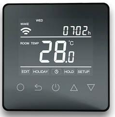 Терморегулятор HC90 Wifi thermostat black