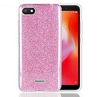 Чехол Shining Glitter для Xiaomi Redmi 6a с блестками розовый
