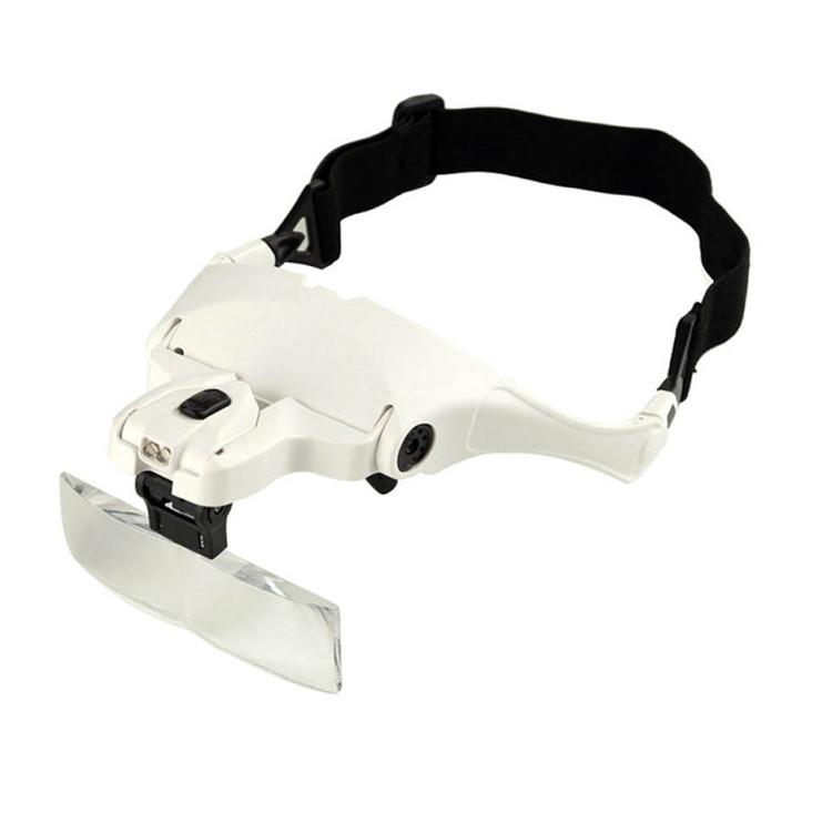 Бинокуляр очки бинокулярные со светодиодной подсветкой 9892BP Лупа - очки