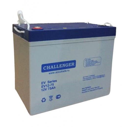 Аккумулятор AGM - 75 Ач, для колясок 12В гелевый Challenger EV12-75