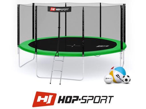 Батут Hop-Sport 14ft (427 см) с внешней защитной сеткой
