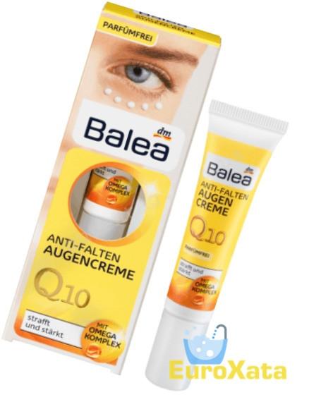 Крем для кожи вокруг глаз от морщин Balea Q10 Anti-falten (15мл) Германия