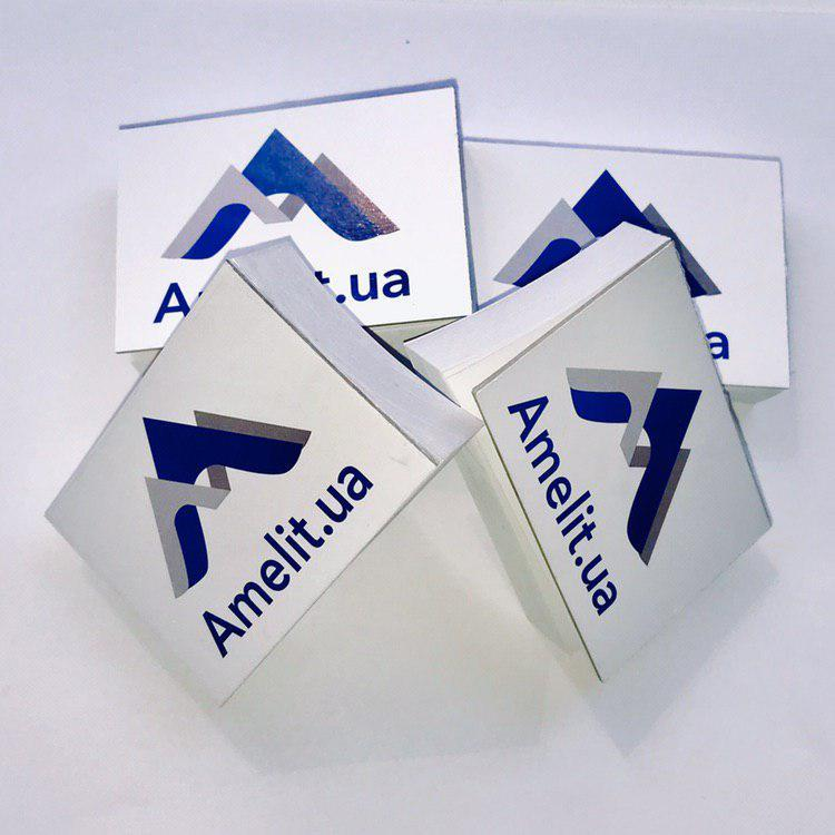 Блокнот для замешивания«Amelit.ua», средний 5х7см, 70листов/шт.