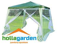 Павильон тент палатка альтанка торговая 3 х 3 + 4 москит.сеток зеленая