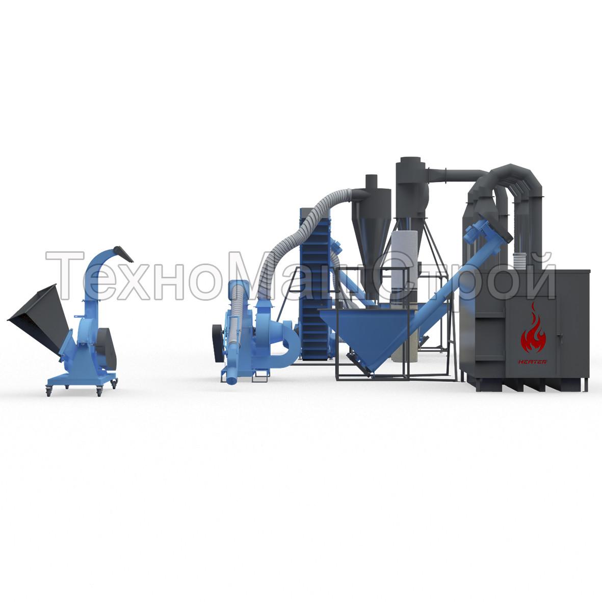 Полный цикл производства пеллет. Мини-завод изготовления пеллет.