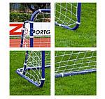 Ворота футбольные STRONG 240x160X100 + ANCHORS, фото 5