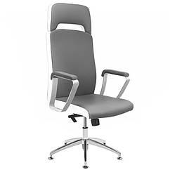 Косметическое кресло RICO A1501-1 серо-белое