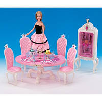 Глория GLORIA 1212 Столовая принцессы 1212 стол,4 стула,буфет,свечи,посуда,еда