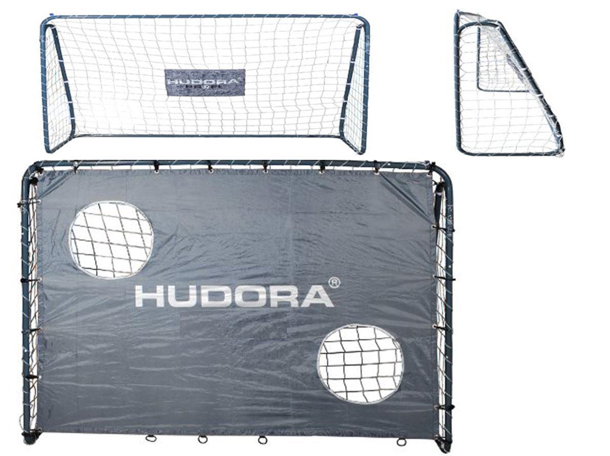 Футбольные ворота Hudora 213x152x76 32mm с сеткой+ мат Германия