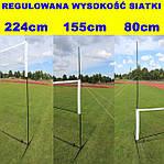 Футбольные ворота Hudora 213x152x76 32mm с сеткой+ мат Германия, фото 5