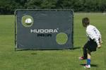 Футбольные ворота Hudora 213x152x76 32mm с сеткой+ мат Германия, фото 6