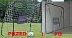 Футбольные ворота Hudora 213x152x76 32mm с сеткой+ мат Германия, фото 7