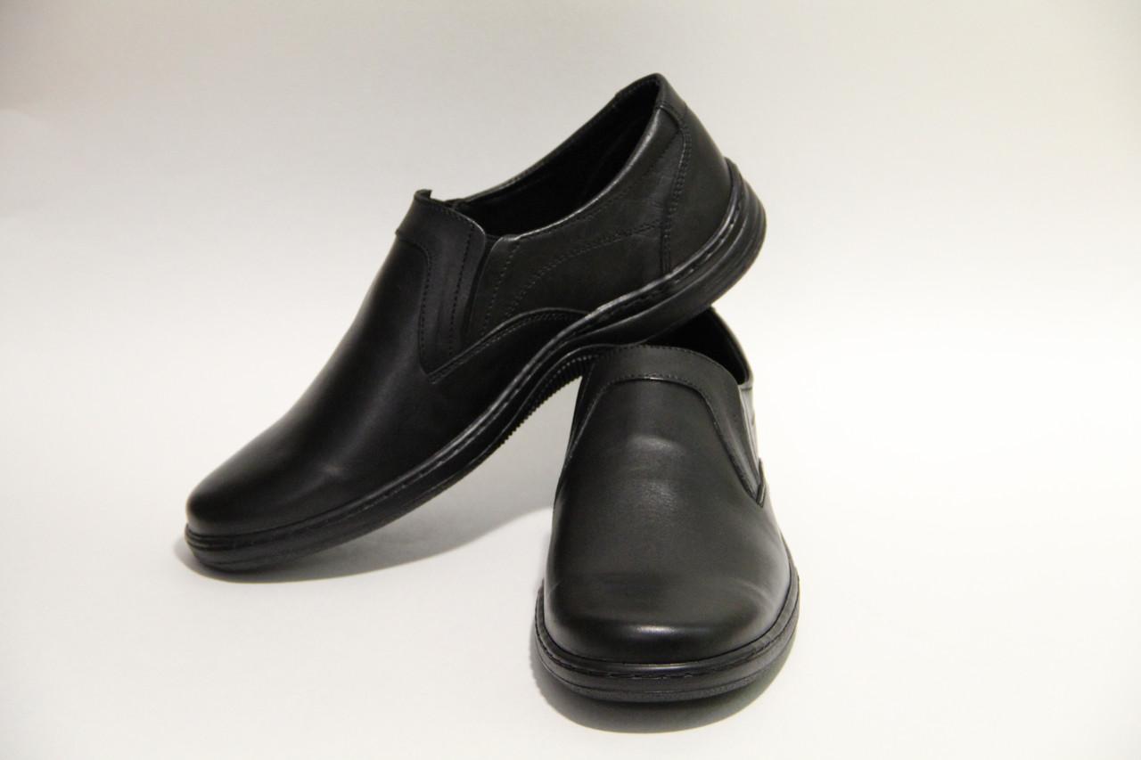 Туфли мужские из натуральной кожи на резинке J 182