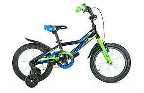 "Велосипед SPELLI 2019 VIRAGE 16"" чорно-синій с зеленим (blk/blue&green)"