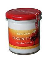 Кокосовое масло пищевое, нерафинированное, холодного отжима. Объем 350 мл.