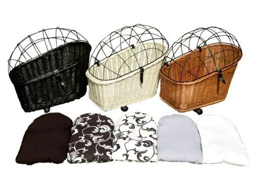 Плетеная корзина  для перевозки животных на велосипеде